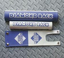 Diamondback two tone White & Blue vinyl padset Bmx oldschool snap button rare