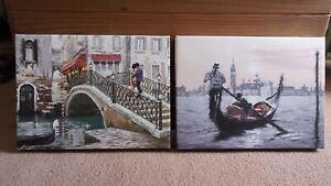 Canvas art wall pictures by Richard Macneil Venice bridge & Venice...
