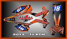 13-15 KTM SX XC SX-F XC-F SEMI CUSTOM GRAPHICS KIT RACE1