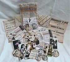 Handmade Fortune Teller Scrapbooking Ephemera Bag