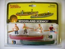Woodland 2755 ~ 2 Kanus mit 4 Figuren, Spur 0