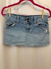 ambercrombie Girls sz 16 Light Wash Distressed Jean Mini Skirt
