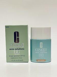 Clinique acne solutions BB cream SPF40 LIGHT MEDIUM Full Size 1 Oz New In Box
