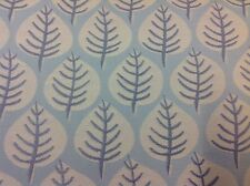 Jane Churchill Modern Leaf Upholstery Fabric- Alcina Pale Blue 1.50 yd J675F-03