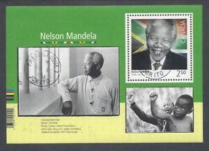 2015 Black History Nelson Mandela Souvenir Sheet First Day Cancel