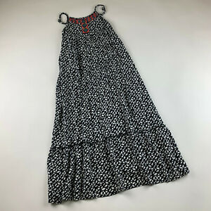 Justice Girls Maxi Dress Long Geo Print Embroidered Size 10