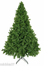 Deluxe Bushy 8ft Green Artificial Christmas Tree 240cm Tall Xmas Tree 2000 TIPS!