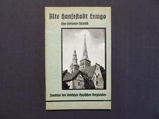 Führer durch die Alte Hansestadt Lemgo, Chronik, Werbung, Inserate, um 1937