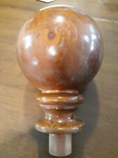 "8"" Wood Ball Finial 11"" Long 3 available"