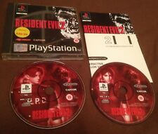 PLAYSTATION 1 GAME (PS1 PS 1) - RESIDENT EVIL 2 - DOUBLE DISC - BLACK DISCS
