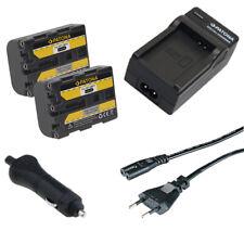 2x Batteria Patona + caricabatterie casa/auto per Sony DCR-PC9,DCR-PC9E