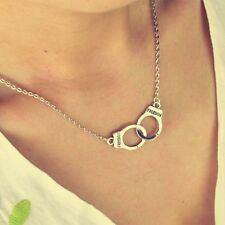 Day Choker Gift Unisex Steampunk Women Handcuffs Jewelry Necklace Pendant