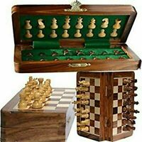 Magnetic Travel Pocket Chess Set - Staunton 7 X 7 Inch Folding Game Board Handma