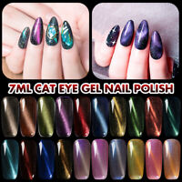 MEET ACROSS 7ml 3D Cat Eye Gel Polish Holo Chameleon Nail Art Soak off UV Gel