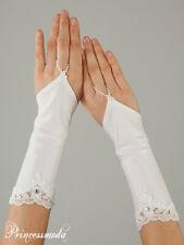 "Kommunionhandschuhe Blumenmädchen Mädchen Handschuhe 8-12 Jahre weiß/""NEU/"""
