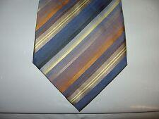 VAN HEUSEN 57 x 3.75 Blue Orange Beige SILK Necktie Tie (13021) Free US Ship