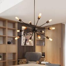 Sputnik 12 Bulbs Vintage Industrial Chandelier Loft Ceiling Pendant Light Holder