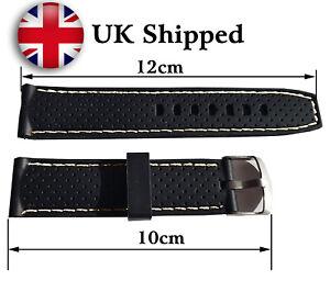 Black Sports Waterproof Watch Strap