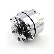 GM Chrome Universal 100 Amp 3 Wire Internal Regulated High Output Alternator