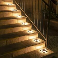 Outdoor Led Solar Stairlights Lamp Waterproof Embedded Light Step Deck Footlight