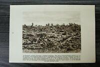 AA) Blatt 1.WK 1914-18 Ripont vorgehender Sturmtrupp Schlachtfeld  (1920er) WWI