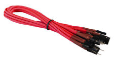 Red Front Panel Set HDD LED/PLED/Reset/Power/SW/SPK Extension Cable Braided