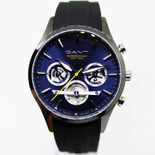 Gant GTAD00502899I Ridgefield blau grau schwarz Kautschuk Armband Uhr Herren NEU