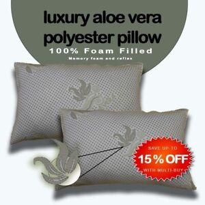 New luxury Aloe Vera  Memory Foam Pillow Back Head Support Medium Firm