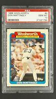 1988 Topps WoolWorth #4 Don Mattingly New York Yankees PSA 10 Gem Mint