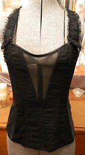 ANN SUMMERS CLUB WEAR ANYA CORSET DETACHABLE STRAPS BLACK UK 8 NWT RRP £45