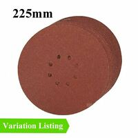 Hook and Loop 225mm Punched Sanding Discs, Orbital Sandpaper Pads / Grit Options