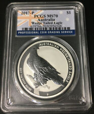 2017 P Australia $1 Silver Wedge-Tailed Eagle Pcgs Ms70