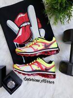 Nike Air Max 2012 Men's Running Shoes Sz 8 White Black Volt University Red