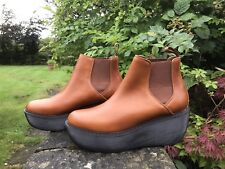 Womens Dr Martens Aerial Chelsea Wedge Platform OAK Tan Leather Boots UK 9 EU 43