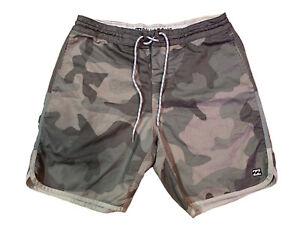Billabong Men's Camo Lo Tides Boardshorts Camouflage Swim Trunks Size 30