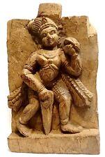 SCULPTURE EN BOIS PRECIEUX - INDE 1800 AD - ANCIENT INDIAN CARVED DIGNITARY