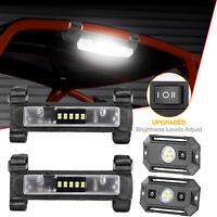 Ultra Slim Roll Bar Mount LED Work Light Kit Curtesy for Bumper ATV UTV JEEP 12V