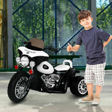 Homcom Triciclo Eléctrico para Niños 3-8 Años 2,5 km/h  - Blanco/Negro