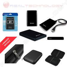 Verbatim Hard Disk Esterno 2.5 2TB USB 3.0 Nero AUTOALIMENTATO 53177 C/CUSTODIA