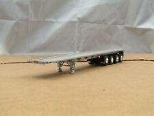 dcp Utility CUSTOM 4 axle silver/silver 48ft flatbed trailer 1/64..
