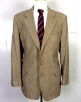 euc Christian Brooks Fine Multicolor Weave Wool Blazer Sportcoat 3 btn 44 L