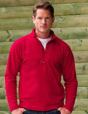 Unifarbene Herren-Pullover mit Reißverschluss und feiner Strickart
