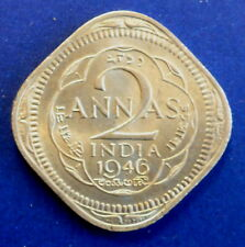 INDIA 1946 2 ANNA A BEAUTY! WORTH GETTING CERTIFIED RARE IN THIS CONDITION