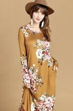 NWT 2X Plus Women's Floral Long Dress Spring Summer Boutique Top