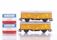 2x BOXED ELECTROTREN 1405 HO - SPANISH RENFE ALCO S.A. BOX GOODS VANS