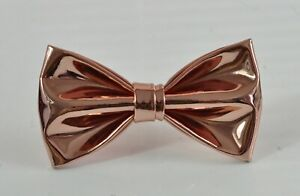 Rose Gold Shining Faux Leather Bow tie Bowtie for Men / Youth / Boy / Baby