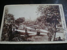 2 Old cabinet photographs Valley Gardens Harrogate by Adams & co Liverpool 1890s