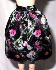 SKIRT ~ BARBIE DOLL MODEL MUSE SWEET TEA BLACK FLORAL PRINT BOTTOM ACCESSORY