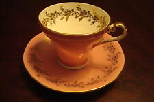 Aynsley England cup and saucer, Pink Classic Corset shaped tea cup & saucer[4-16