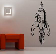 GIANT SPACE ROCKET KIDS wall art sticker vinyl BEDROOM